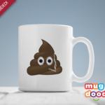 Smoking poop mug