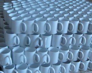 Mugs stacked upon mugs