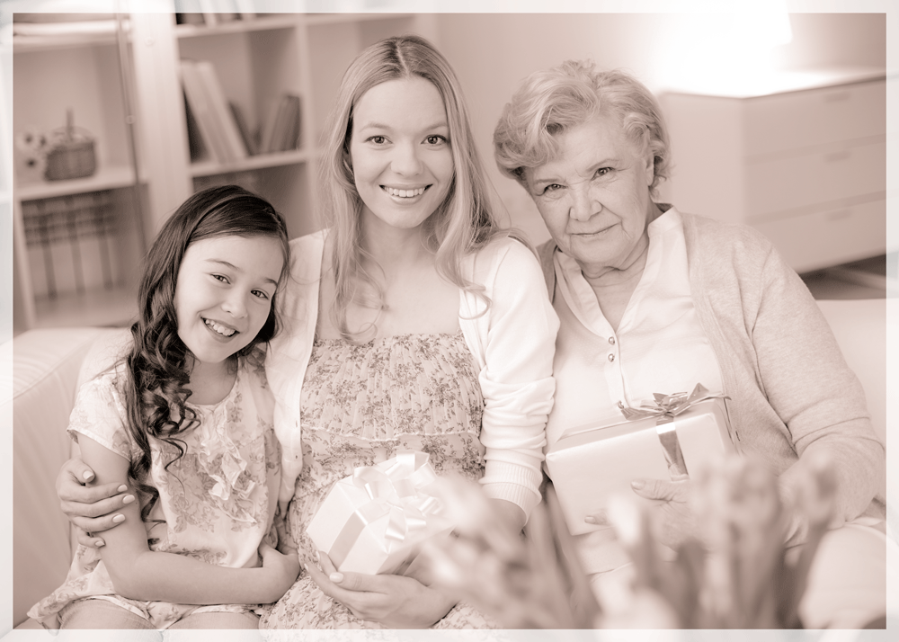 Mother's Day picture with three generations